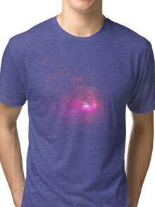 Apophysis Fractal Design - Pink Flower Tri-blend T-Shirt