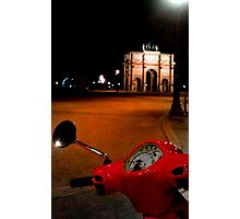 The Carousel red Vespa  Photographic Print