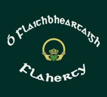 Flaherty Surname - Dark Shirts with Claddagh by Mike Collins