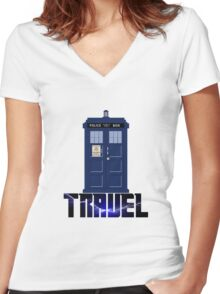 Travel Box Women's Fitted V-Neck T-Shirt