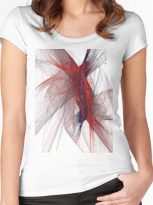 Apophysis Fractal Design - Flower Women's Fitted Scoop T-Shirt