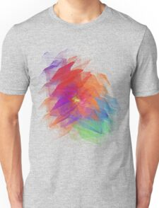 Apophysis Fractal Design - Enhanced Rainbow Flower  Unisex T-Shirt