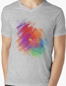 Apophysis Fractal Design - Enhanced Rainbow Flower  Mens V-Neck T-Shirt