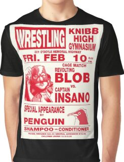 The Revolting Blob Wrestling Poster Graphic T-Shirt