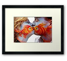 The Fish Kiss Framed Print