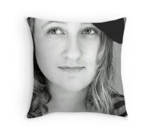 La Jeune Fille Aux Cheveux Blancs Throw Pillow