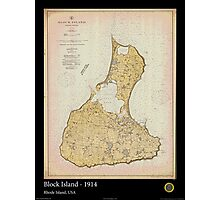 Vintage Print Image of Block Island - 1914 Photographic Print