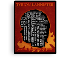 Tyrion Lannister GAME OF THRONES Canvas Print