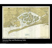 Vintage Print of Jamaica Bay and Rockaway Inlet  Photographic Print