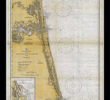 Vintage Print of St. Augustine and Amelia Island - 1933 by aocimages
