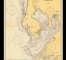 Vintage Print of Tampa Bay and St. Joseph Sound - 1932 by aocimages