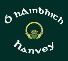 Hanvey Surname - Dark Shirts with Claddagh by Mike Collins
