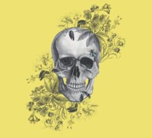 flower skull and bee by Federica Cacciavillani