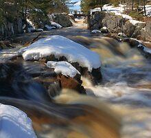 Spring Snowmelt at Cataract Dam Falls by DArthurBrown