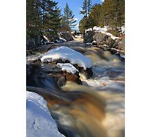 Spring Snowmelt at Cataract Dam Falls Photographic Print