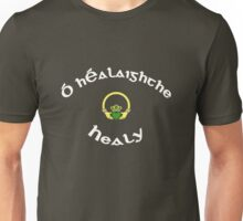 Healy Surname - Dark Shirts with Claddagh Unisex T-Shirt