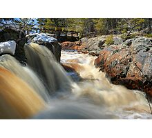 Upper Cataract Dam Falls During the Spring Snowmelt Photographic Print