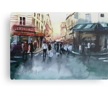 The crowd - Watercolor Metal Print