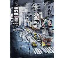 Time Square - Watercolor Photographic Print