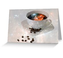 Nectar From Heaven - Coffee Art By Sharon Cummings Greeting Card