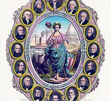 US Presidents And Lady Liberty by warishellstore
