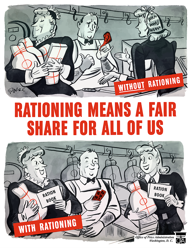 Rationing Means A Fair Share For All Of Us -- WW2 by warishellstore