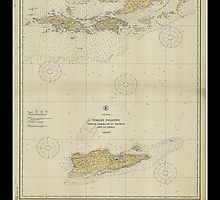 Vintage Virgin Islands Print - 1921 by aocimages