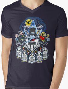 Penguin Time Mens V-Neck T-Shirt