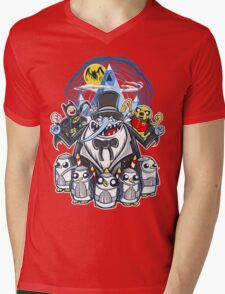 Penguin Time Mens V-Neck T-Shirt