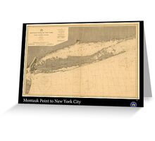 Vintage Print of Long Island Sound -1899 Greeting Card