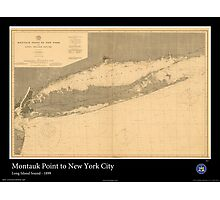 Vintage Print of Long Island Sound -1899 Photographic Print