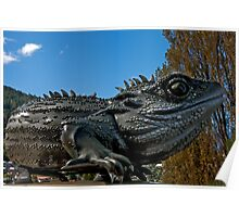 Reptile On A Roof Rack Poster