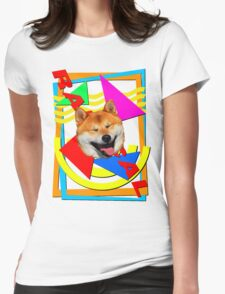 Totally Shiba To The Max Womens Fitted T-Shirt