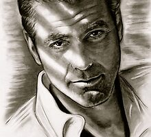 G. Clooney in black and white by GittaG74
