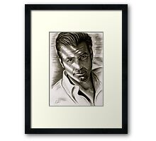G. Clooney in black and white Framed Print