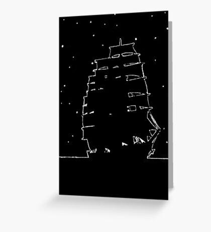 Cutter Ship Greeting Card
