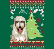 Irish Wolfhound Ugly Christmas Sweater Womens Fitted T-Shirt