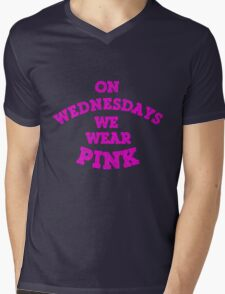 On Wednesdays We Wear Pink. Mens V-Neck T-Shirt