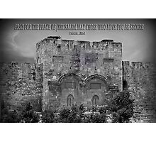 ❤ † JERUSALEM CRIES WITH BIBLICAL TEXT ❤ † C VIDEO I MADE BELOW HUGS Photographic Print