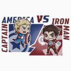 Captain america VS Iron man by Annaka