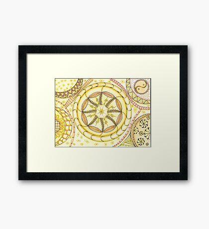 All Zen coloured Framed Print