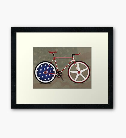 I Love My American  Bike Framed Print