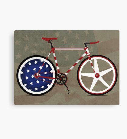 I Love My American  Bike Canvas Print