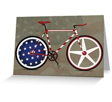 I Love My American  Bike Greeting Card