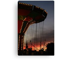 Carnival Ride at Sunset Vertical Canvas Print