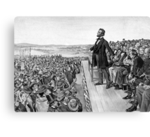 President Lincoln Delivering The Gettysburg Address Canvas Print