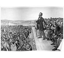President Lincoln Delivering The Gettysburg Address Poster