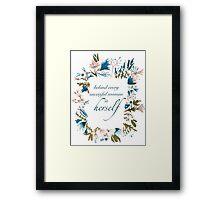 Floral Fem Framed Print