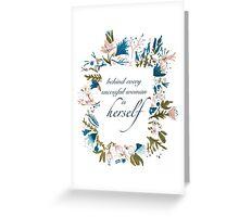 Floral Fem Greeting Card