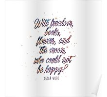 With freedom, books... Poster